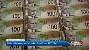 Federal government's market debt tops $1 trillion